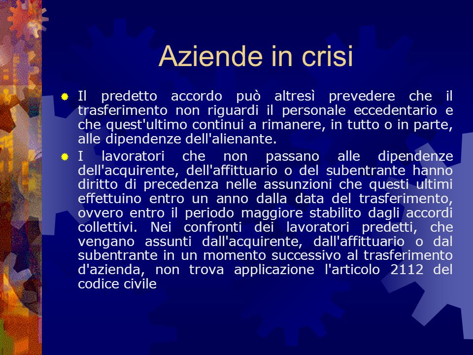 Aziende in crisi