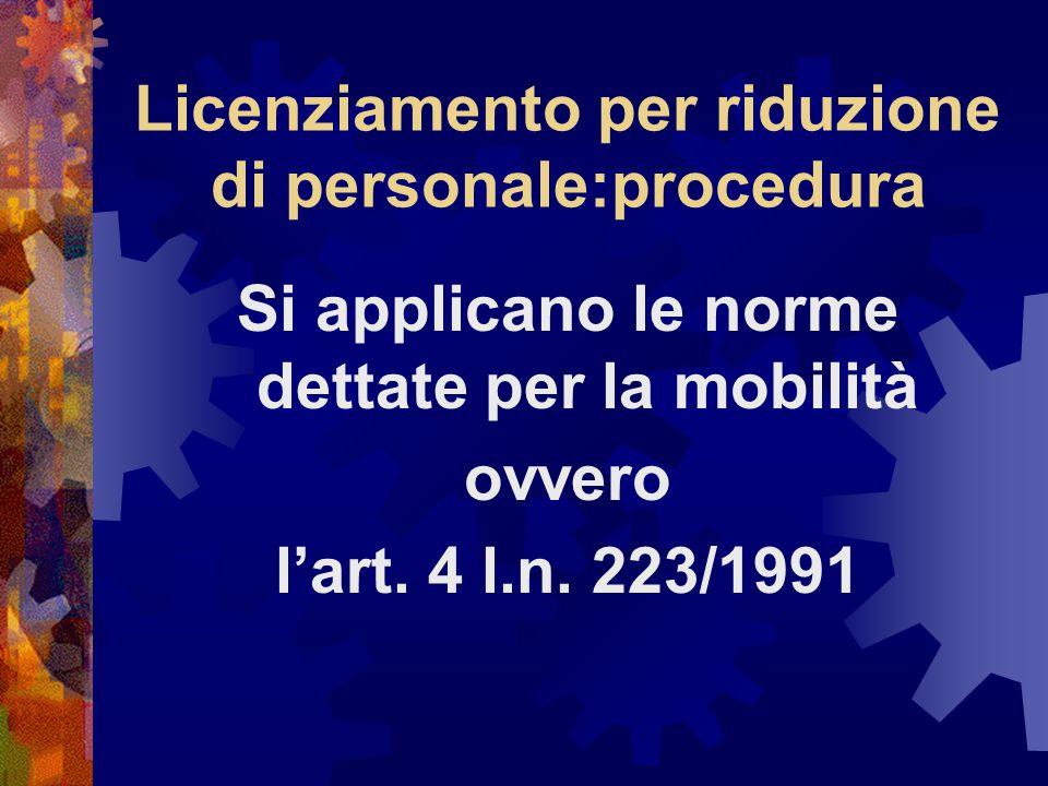 Licenziamento per riduzione di personale:procedura