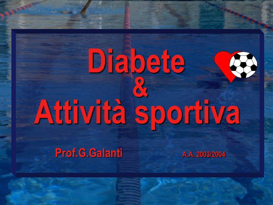 Diabete Attività sportiva