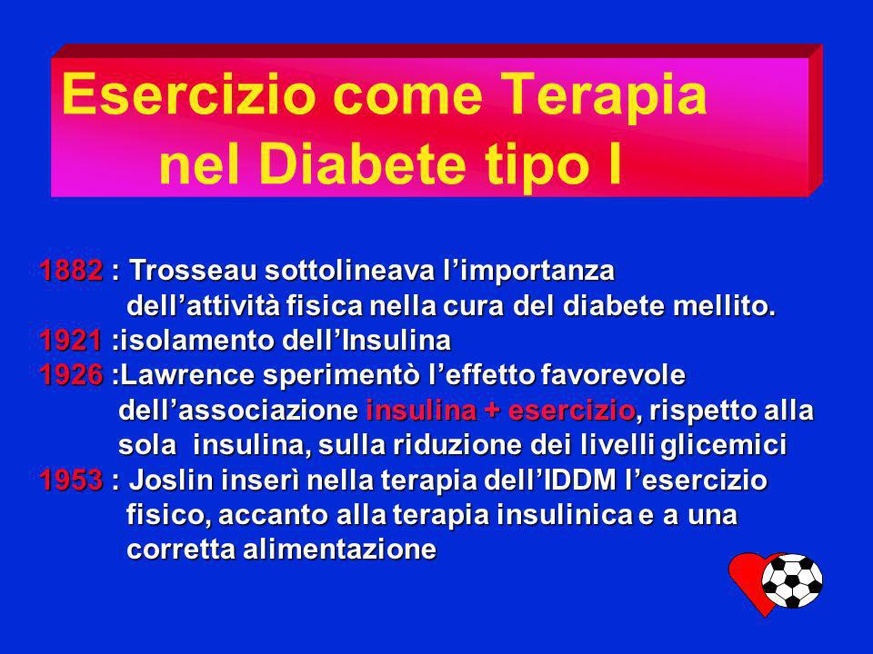 Esercizio come Terapia nel Diabete tipo I
