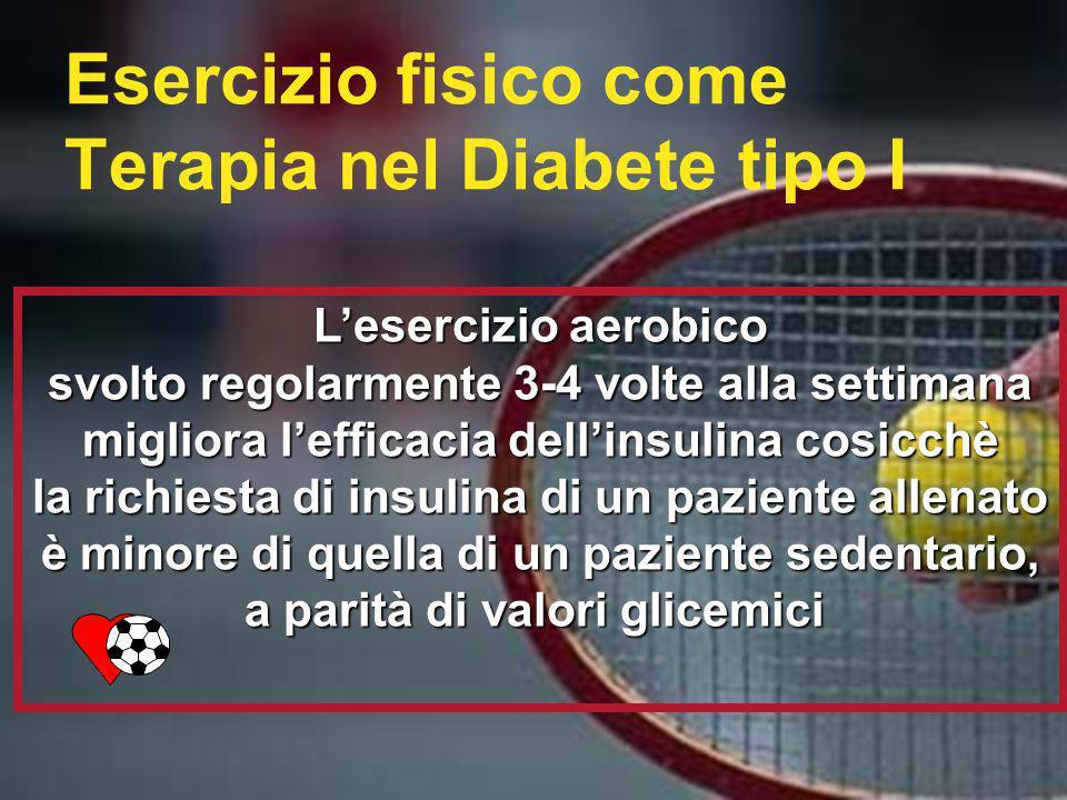 Esercizio fisico come Terapia nel Diabete tipo I