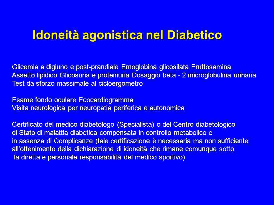 Idoneità agonistica nel Diabetico