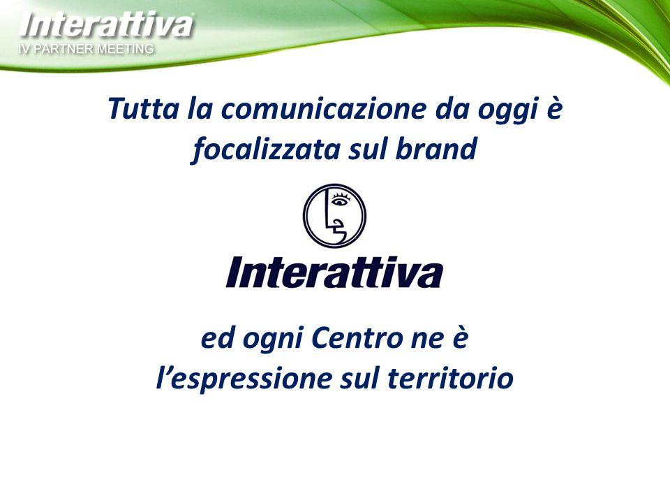 Tutta la comunicazione da oggi è l'espressione sul territorio