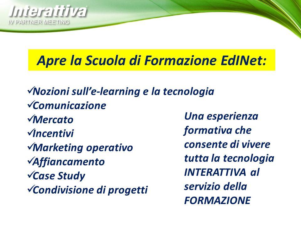 Apre la Scuola di Formazione EdINet: