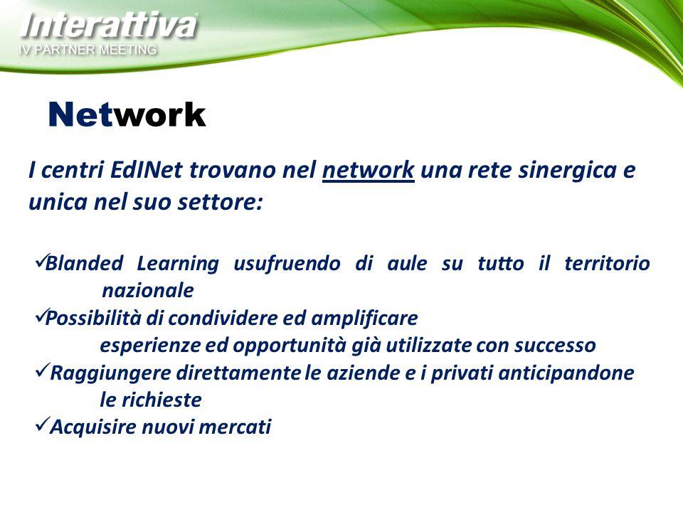 Network I centri EdINet trovano nel network una rete sinergica e unica nel suo settore: