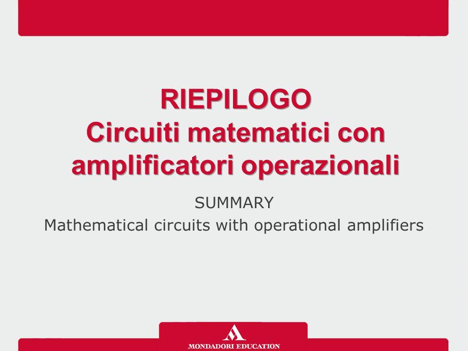Circuiti matematici con amplificatori operazionali