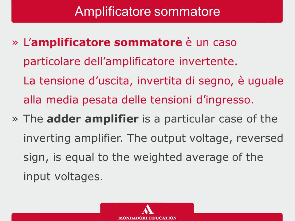 Amplificatore sommatore