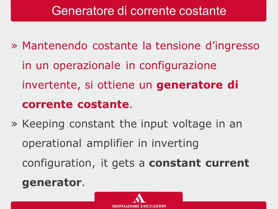 Generatore di corrente costante