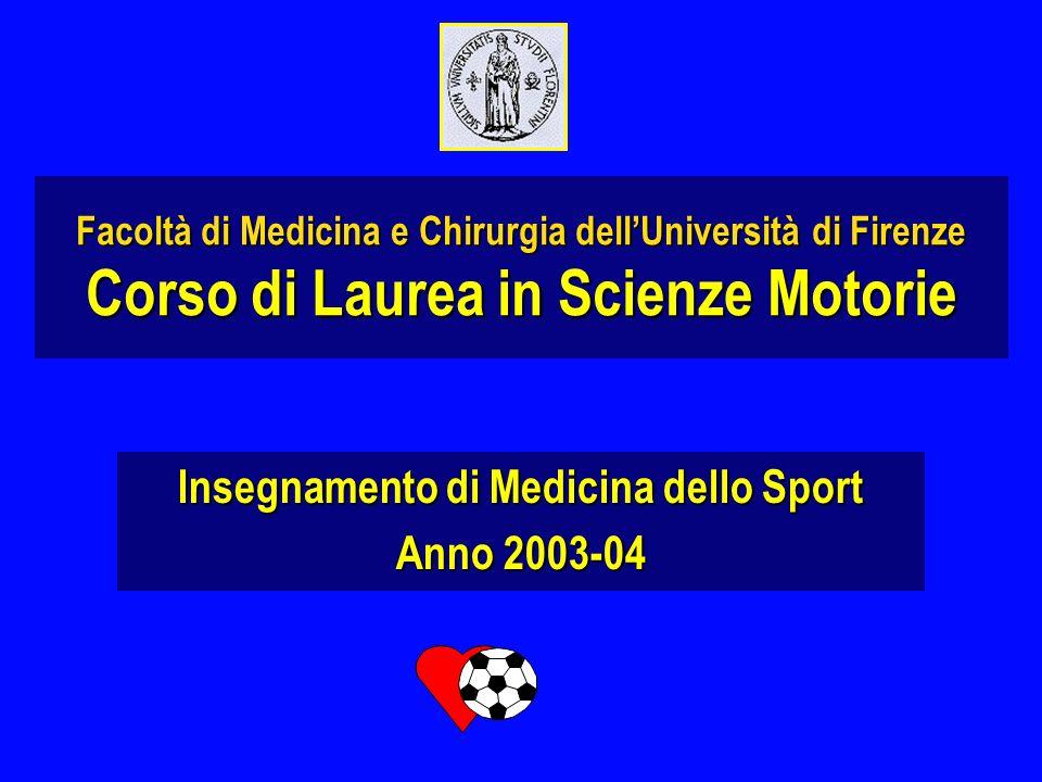 Insegnamento di Medicina dello Sport Anno 2003-04