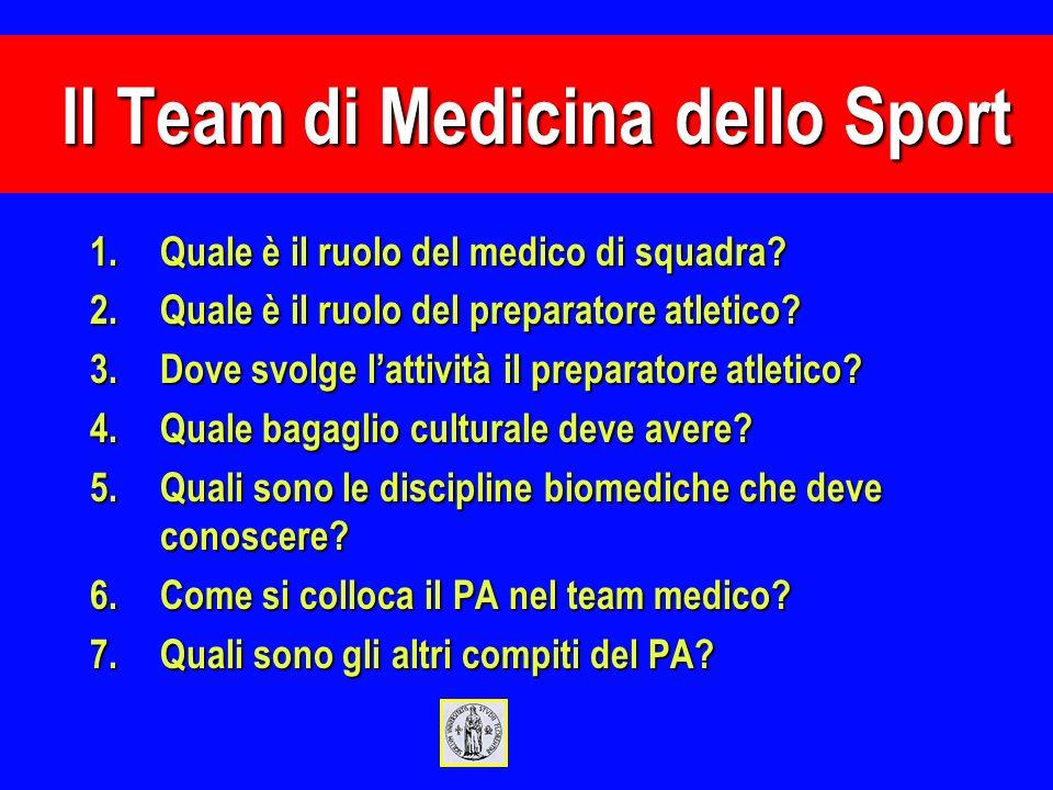 Il Team di Medicina dello Sport