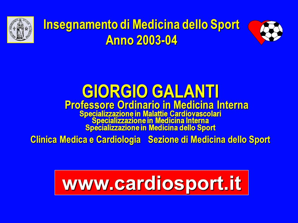 www.cardiosport.it GIORGIO GALANTI