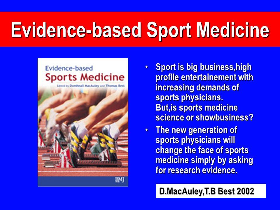Evidence-based Sport Medicine
