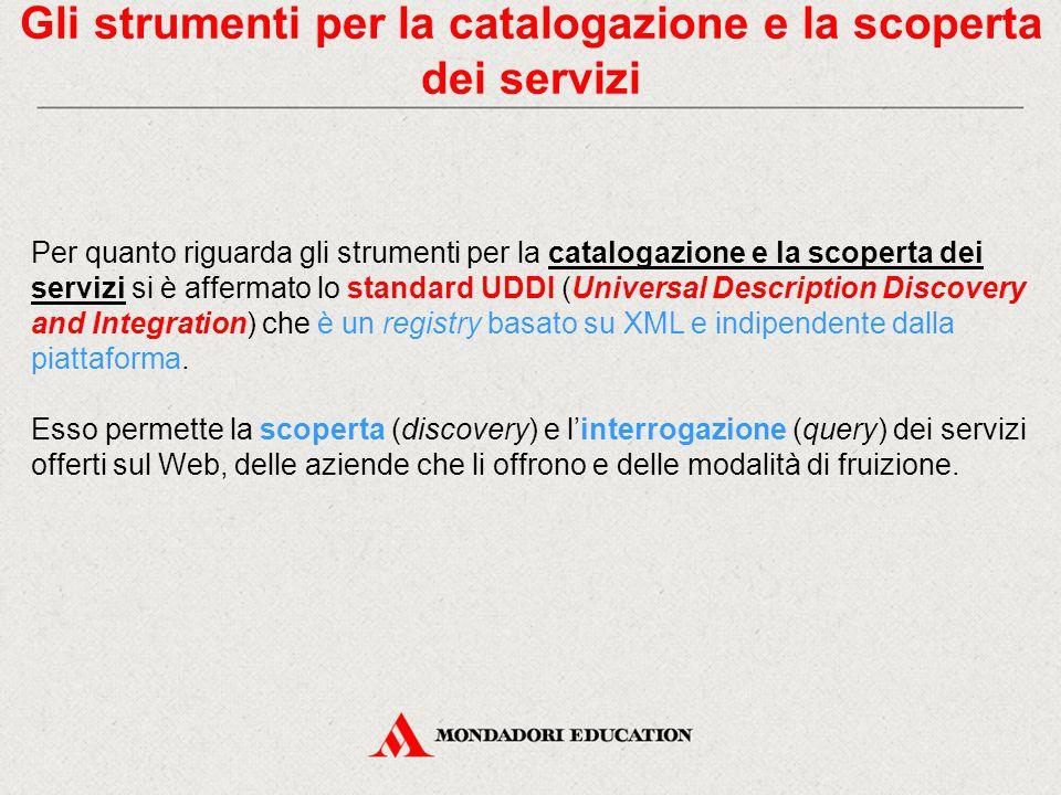 Gli strumenti per la catalogazione e la scoperta dei servizi