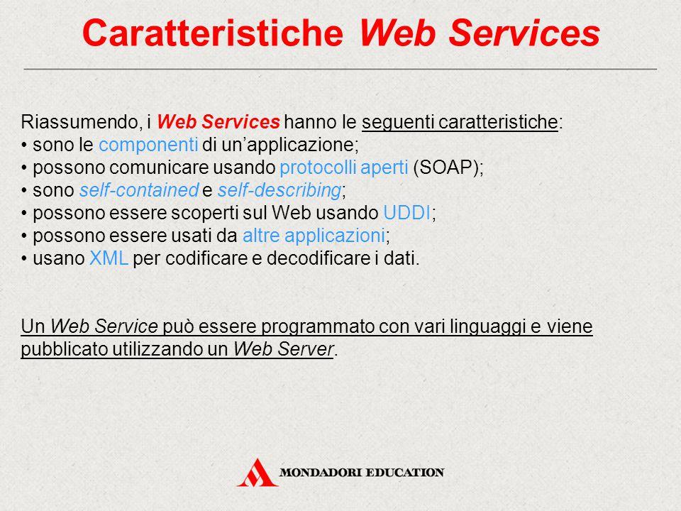 Caratteristiche Web Services