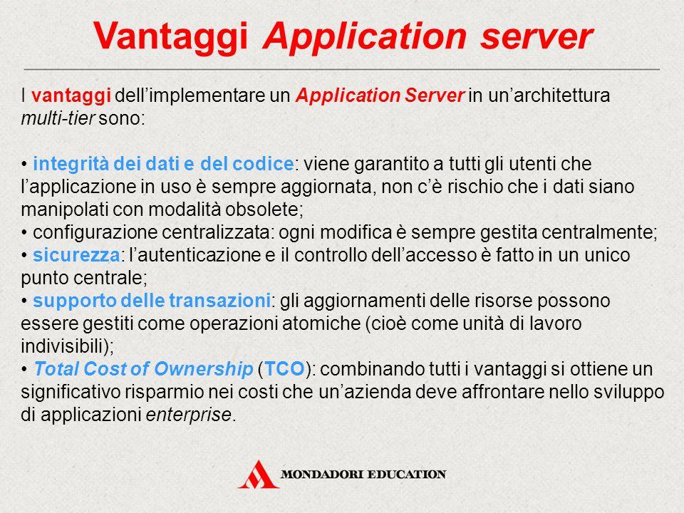 Vantaggi Application server
