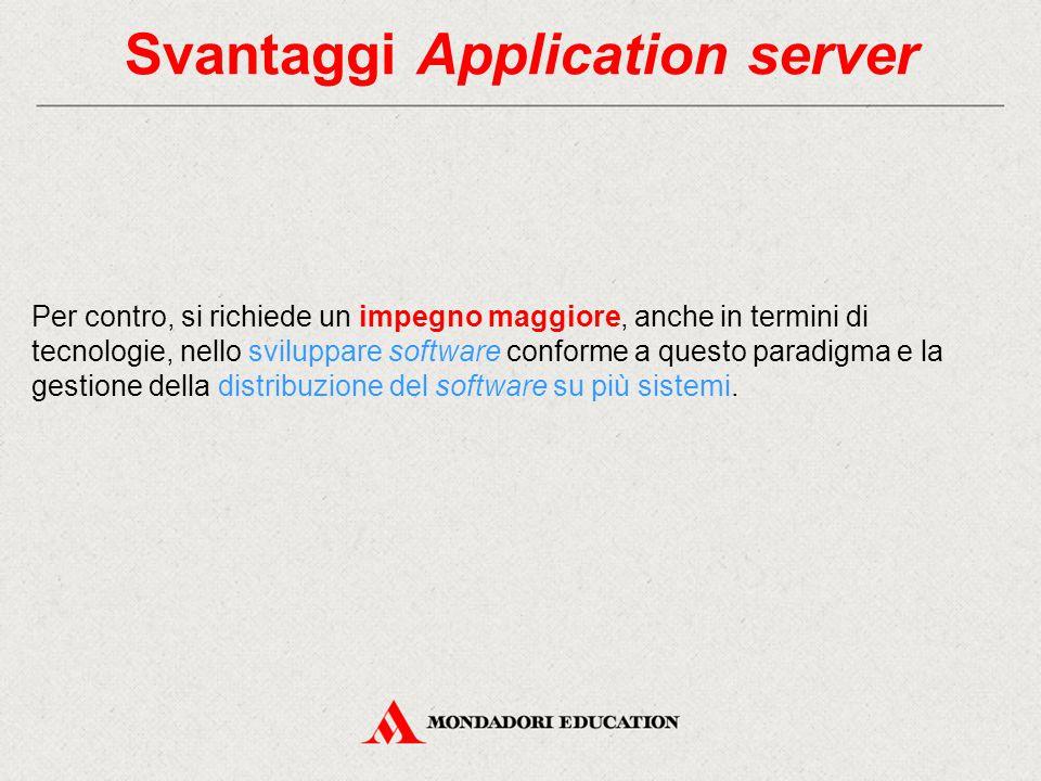 Svantaggi Application server