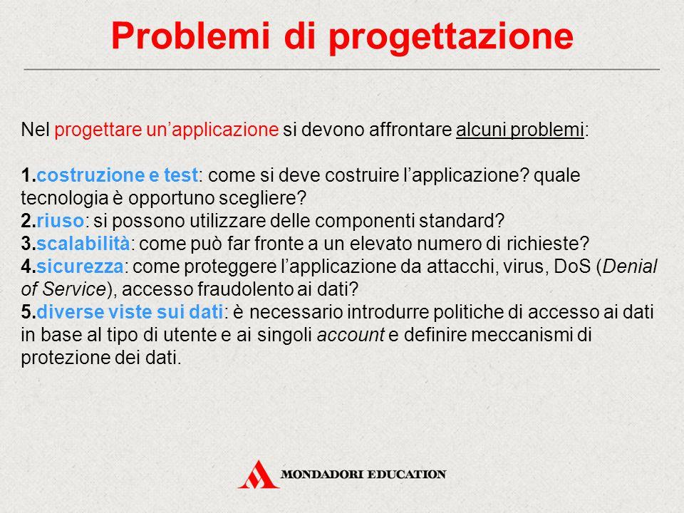 Problemi di progettazione