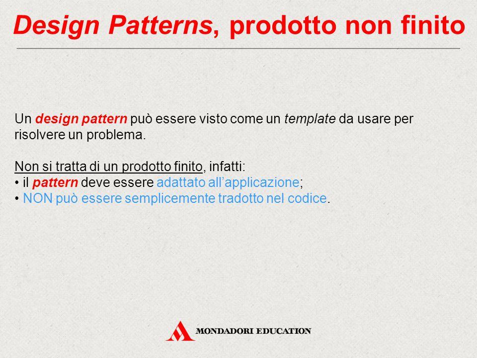 Design Patterns, prodotto non finito