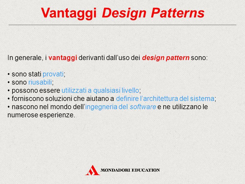 Vantaggi Design Patterns
