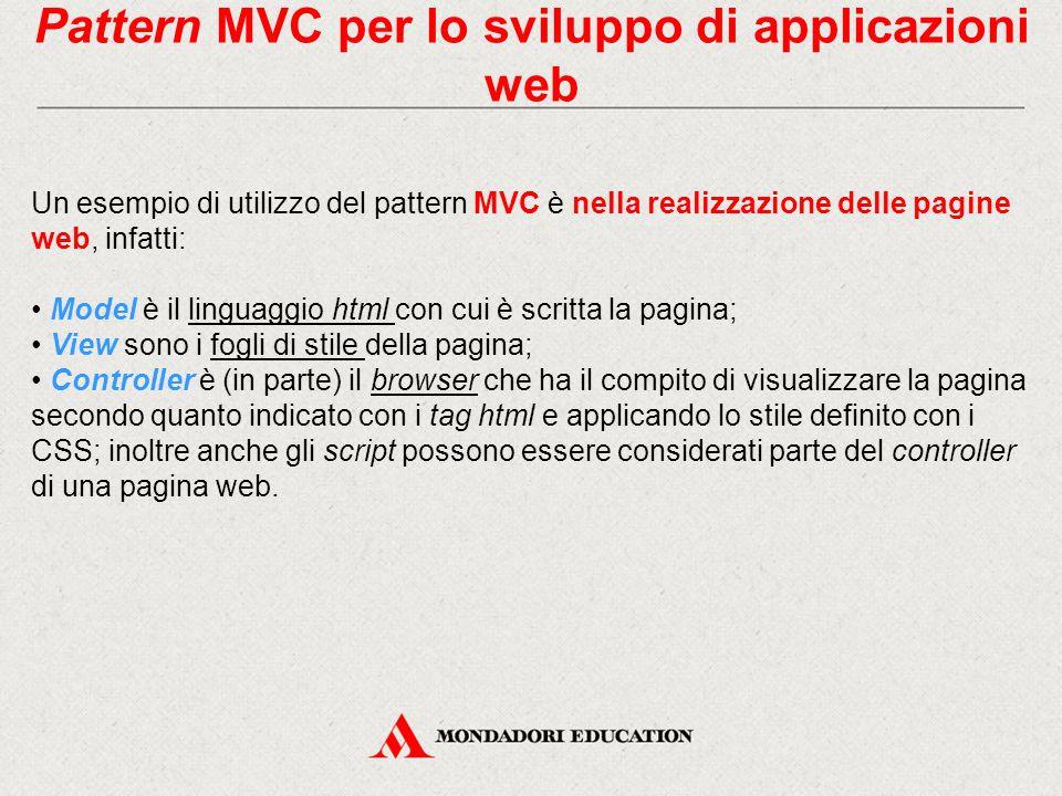 Pattern MVC per lo sviluppo di applicazioni web