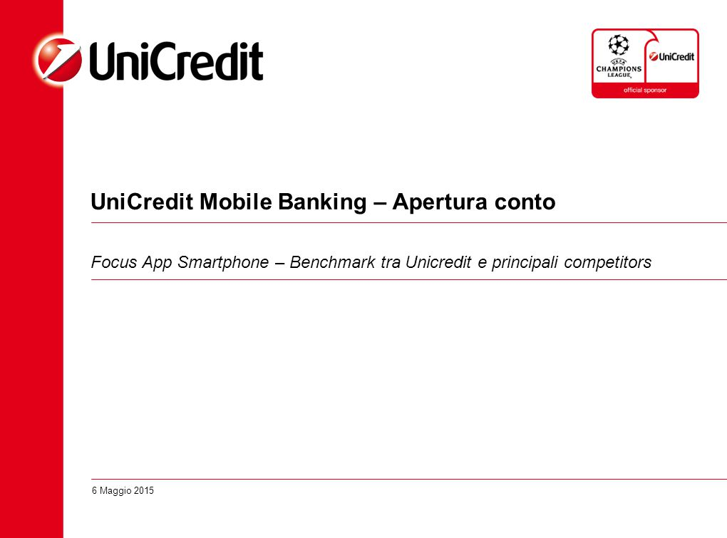 UniCredit Mobile Banking – Apertura conto