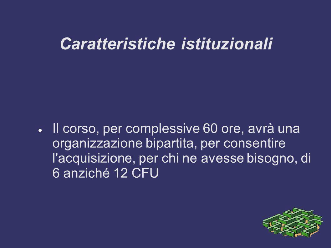Caratteristiche istituzionali