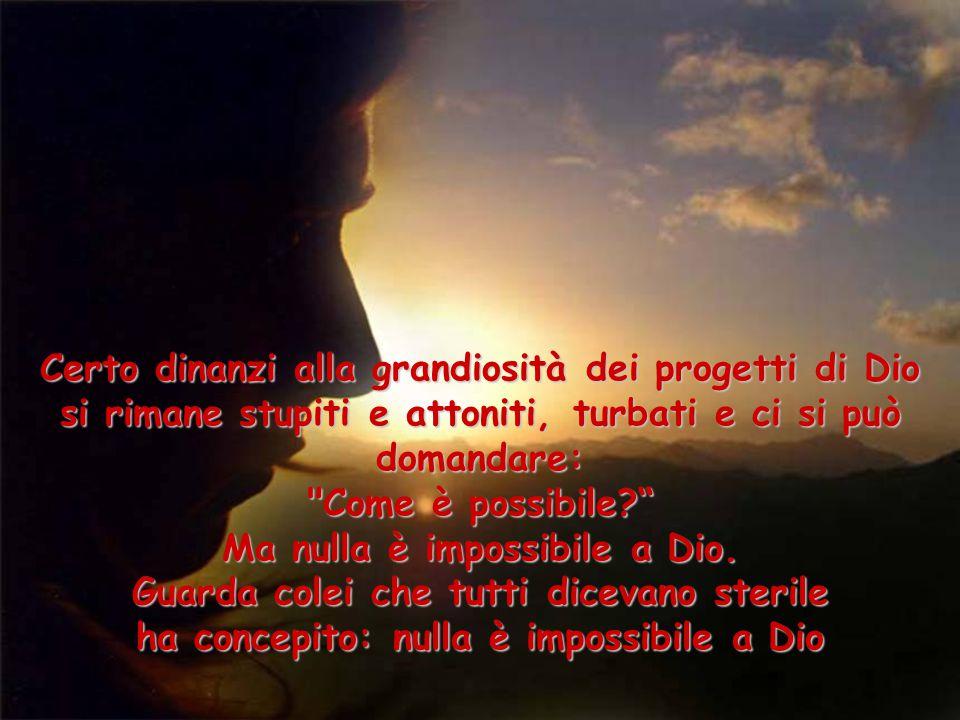 Certo dinanzi alla grandiosità dei progetti di Dio