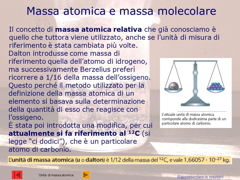 Massa atomica e massa molecolare