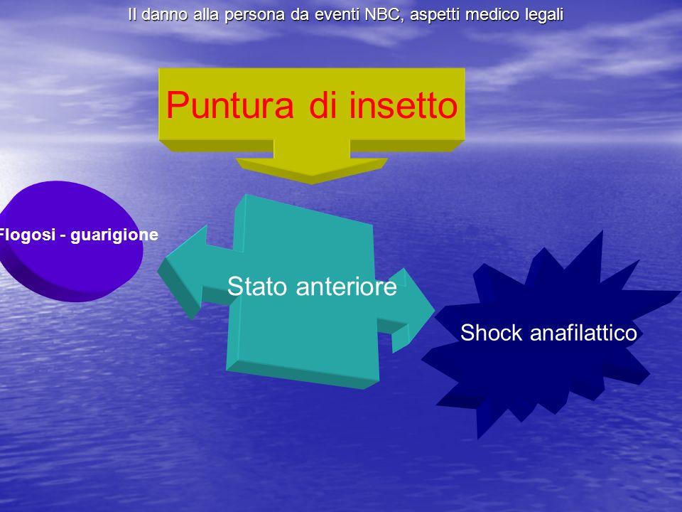Puntura di insetto Stato anteriore Shock anafilattico