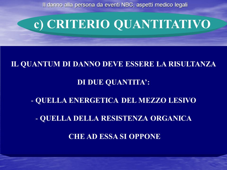 c) CRITERIO QUANTITATIVO
