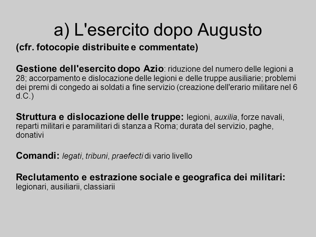 a) L esercito dopo Augusto