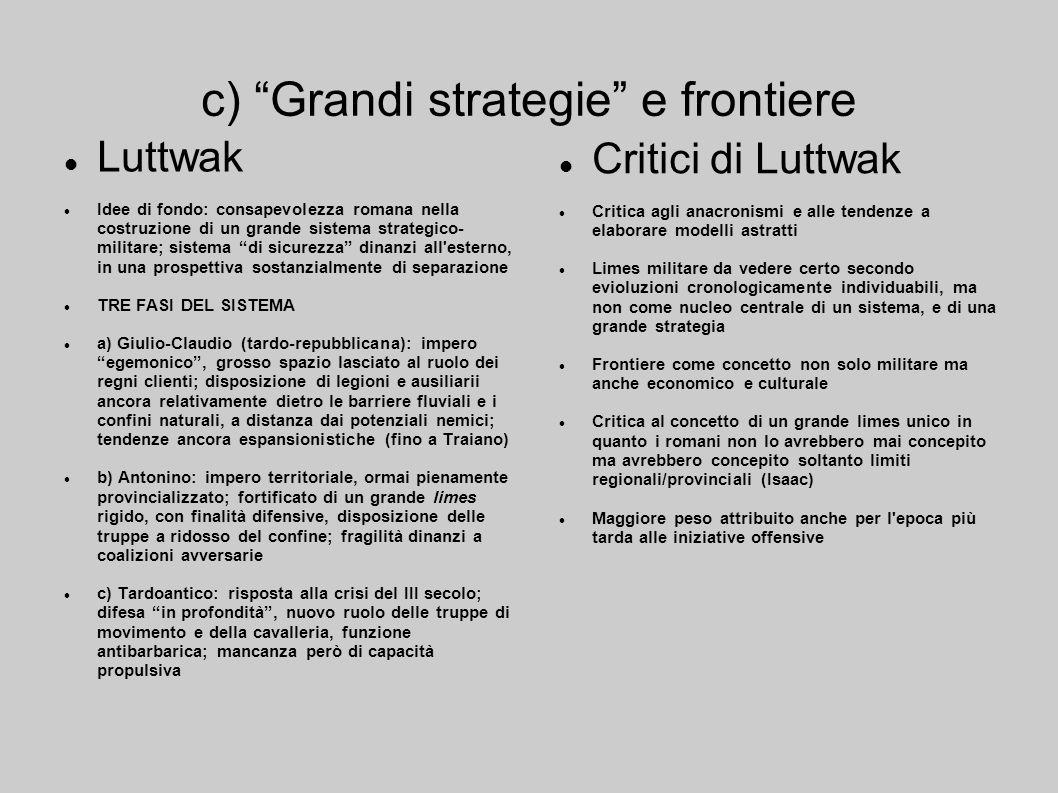 c) Grandi strategie e frontiere