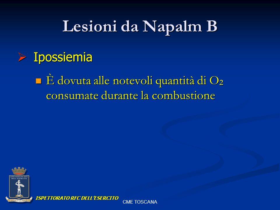 Lesioni da Napalm B Ipossiemia