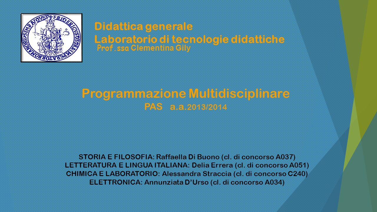 Programmazione Multidisciplinare