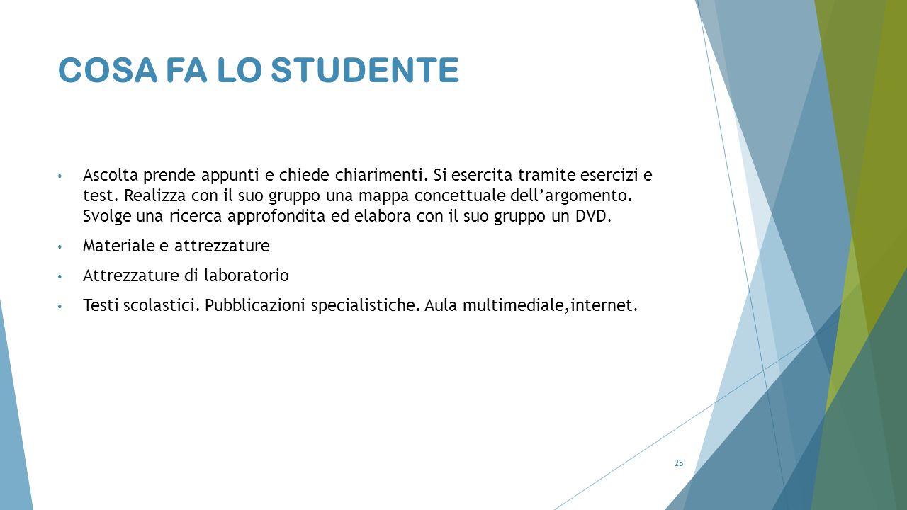 COSA FA LO STUDENTE