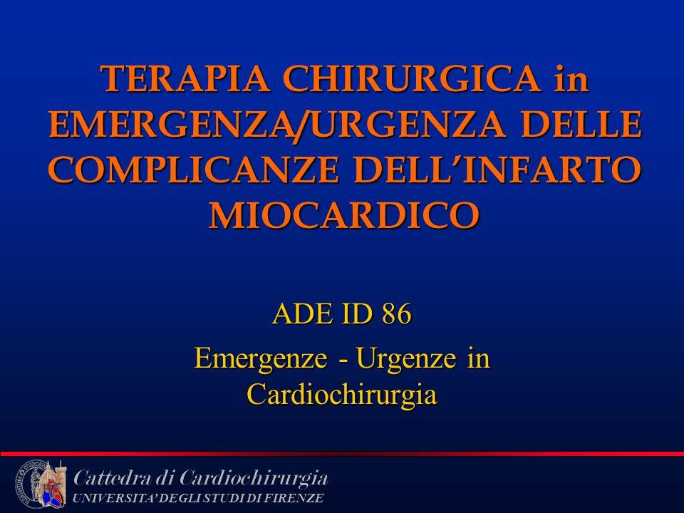 ADE ID 86 Emergenze - Urgenze in Cardiochirurgia