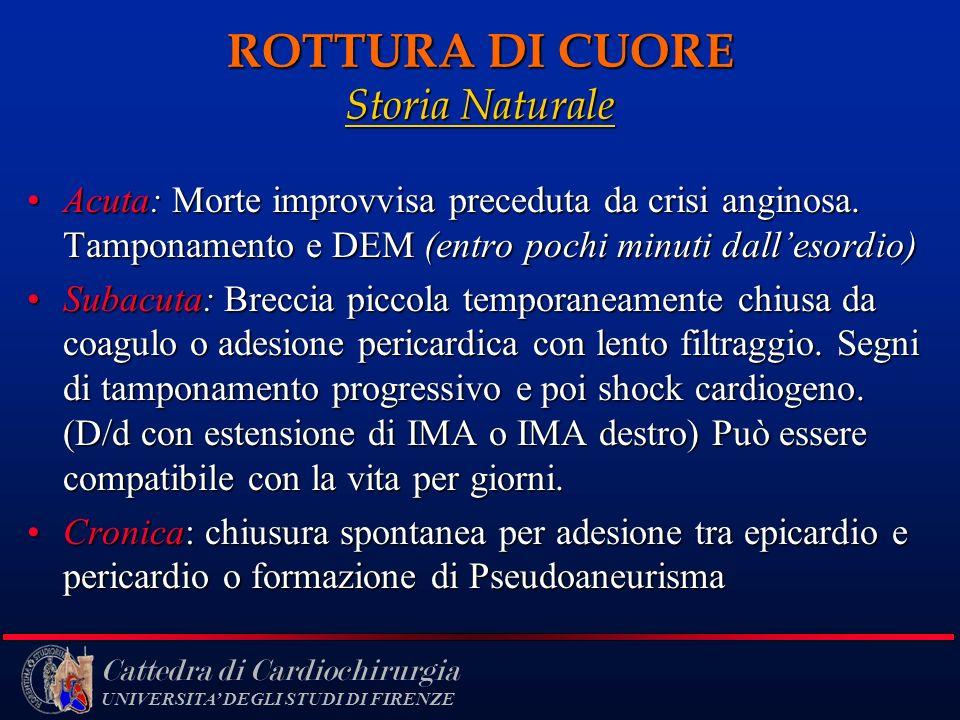 ROTTURA DI CUORE Storia Naturale