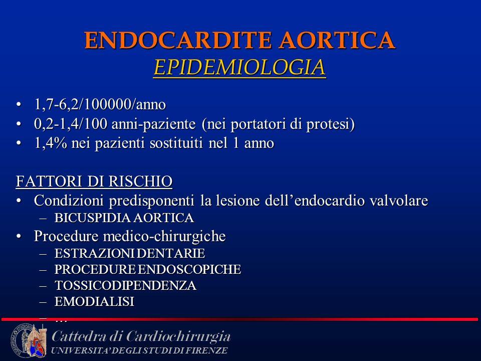 ENDOCARDITE AORTICA EPIDEMIOLOGIA