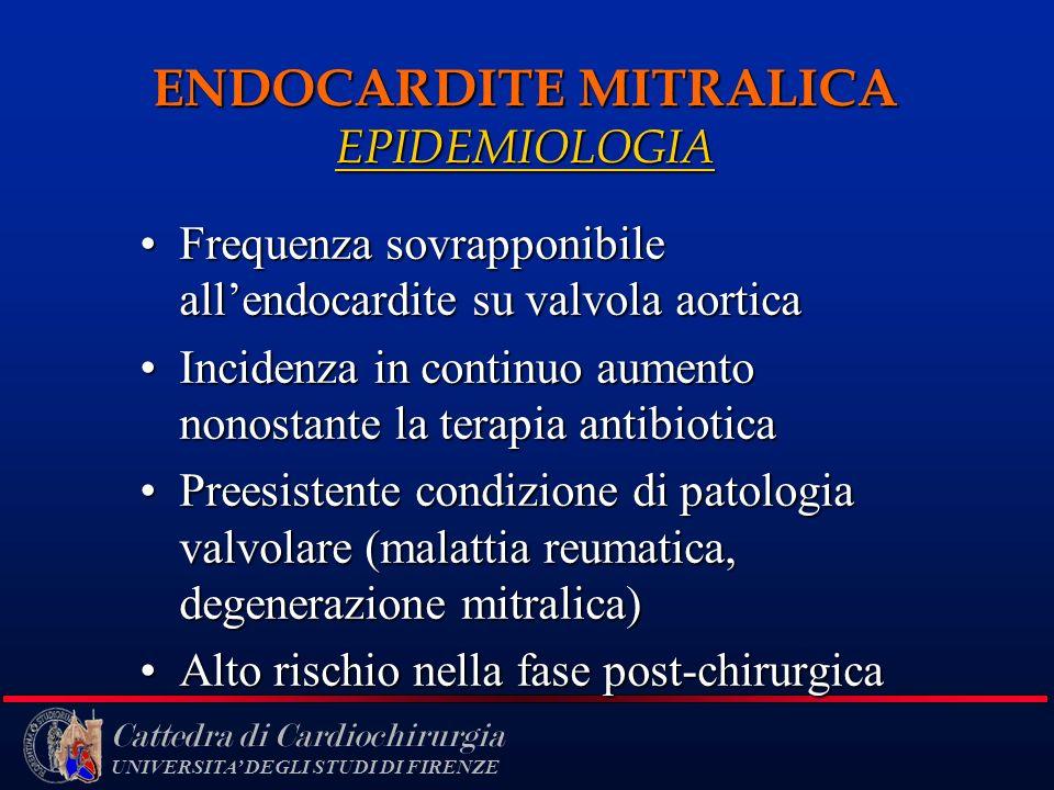ENDOCARDITE MITRALICA EPIDEMIOLOGIA