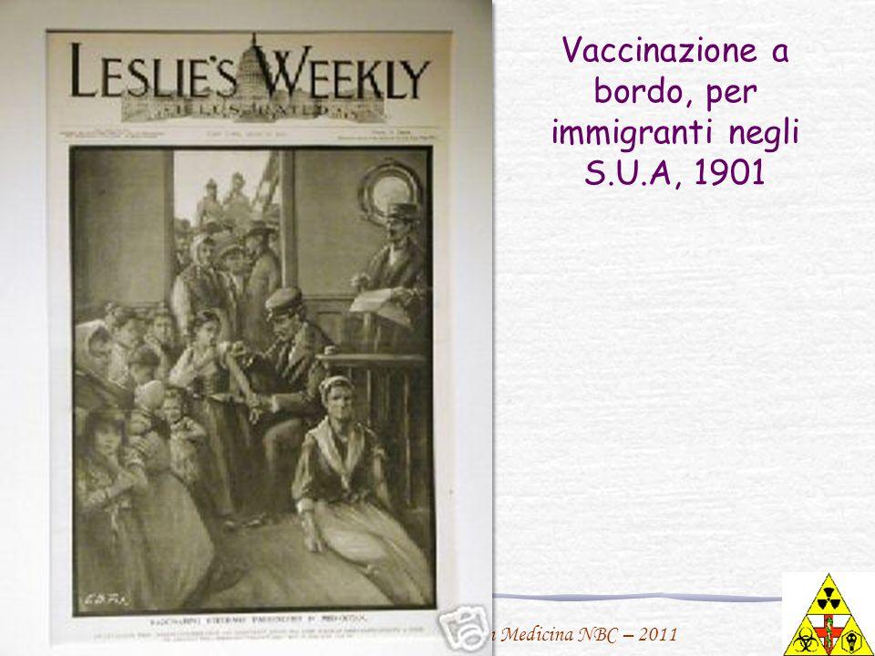 Vaccinazione a bordo, per immigranti negli S.U.A, 1901