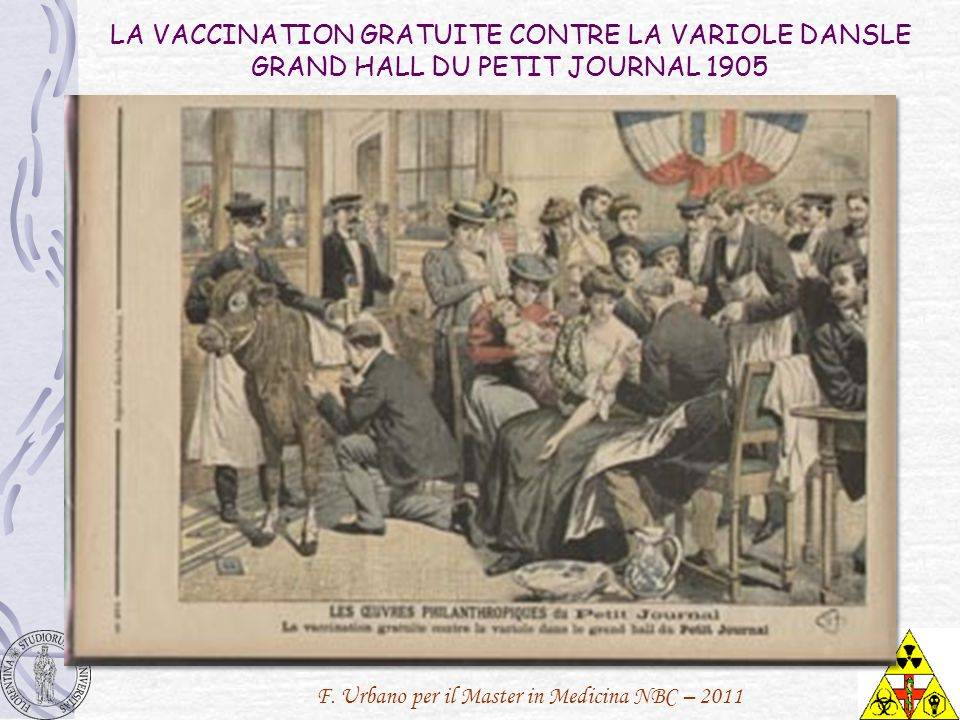 LA VACCINATION GRATUITE CONTRE LA VARIOLE DANSLE GRAND HALL DU PETIT JOURNAL 1905