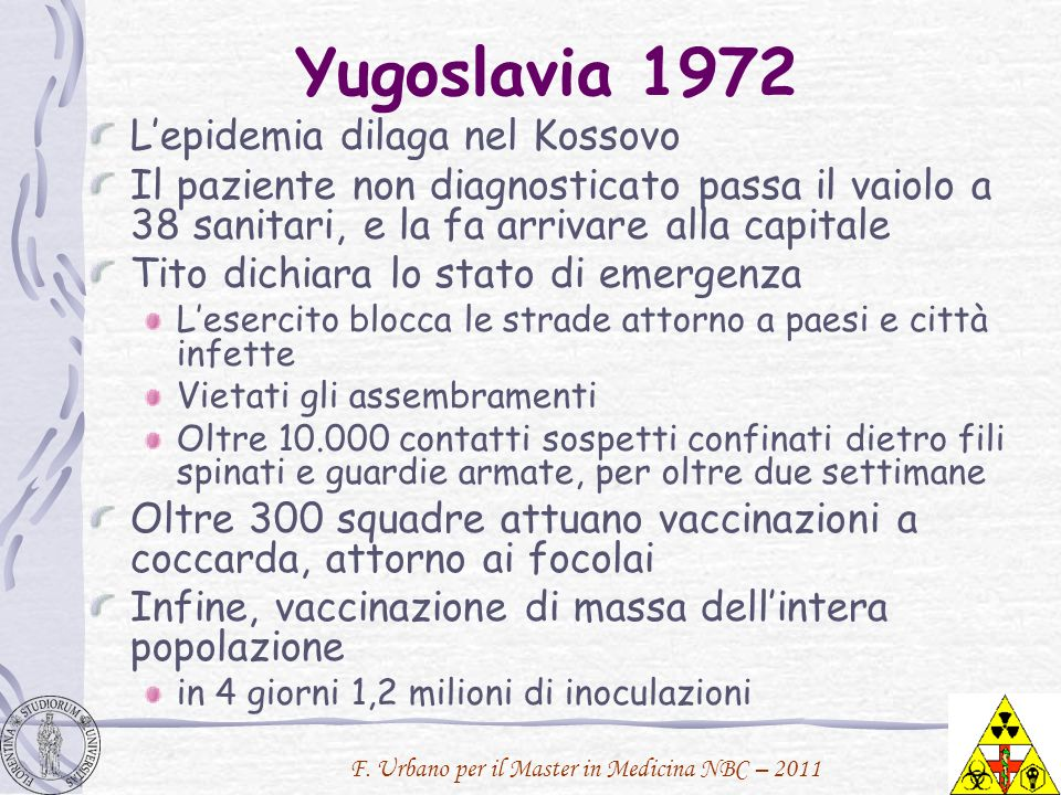 Yugoslavia 1972 L'epidemia dilaga nel Kossovo