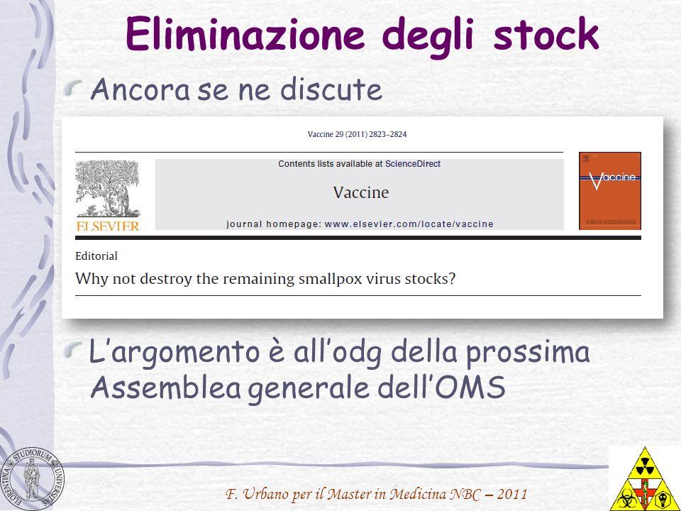 Eliminazione degli stock