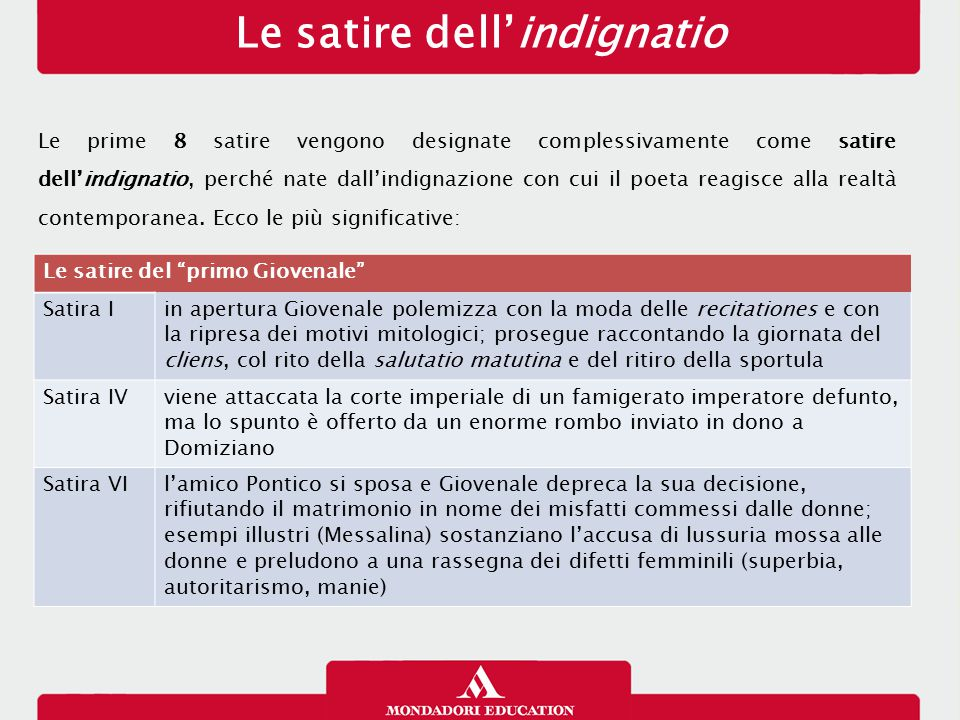 Le satire dell'indignatio
