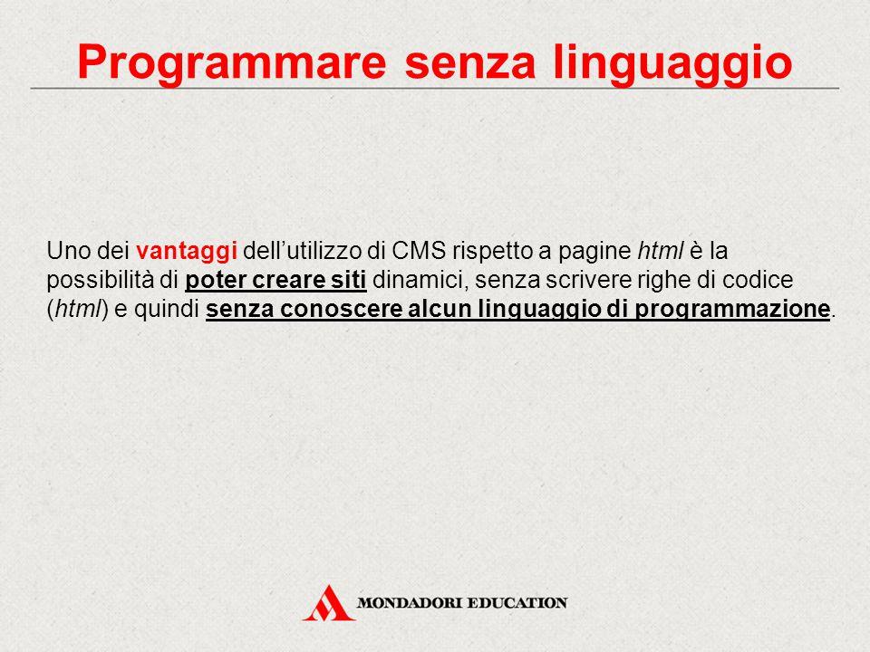 Programmare senza linguaggio