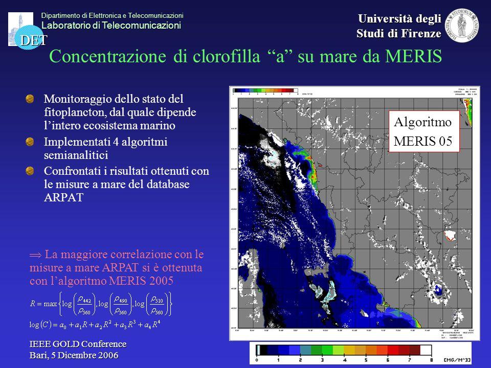 Concentrazione di clorofilla a su mare da MERIS