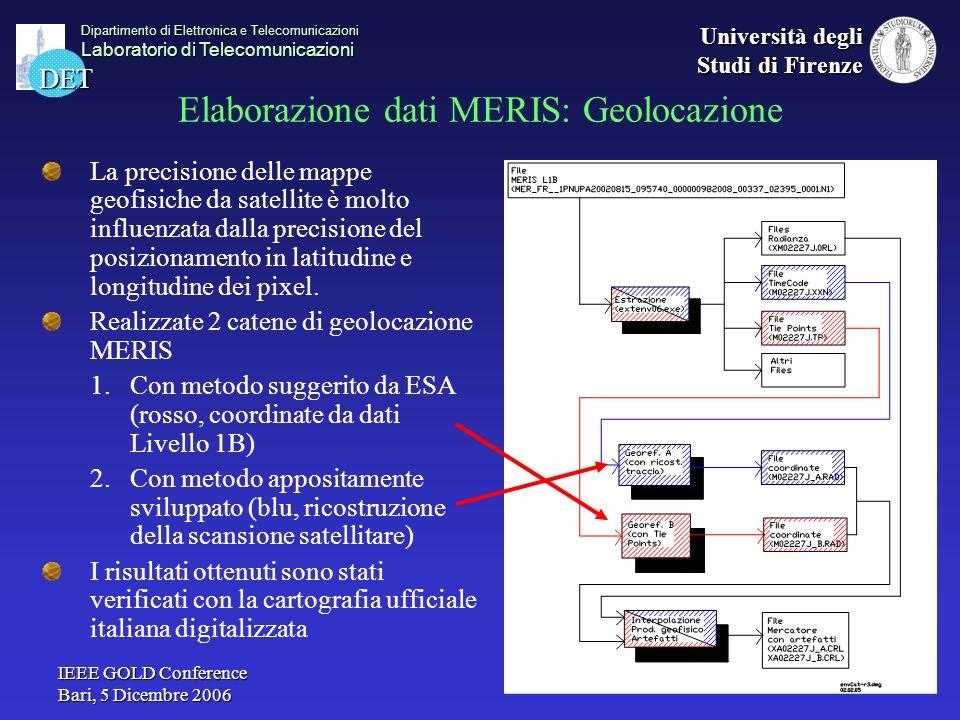 Elaborazione dati MERIS: Geolocazione