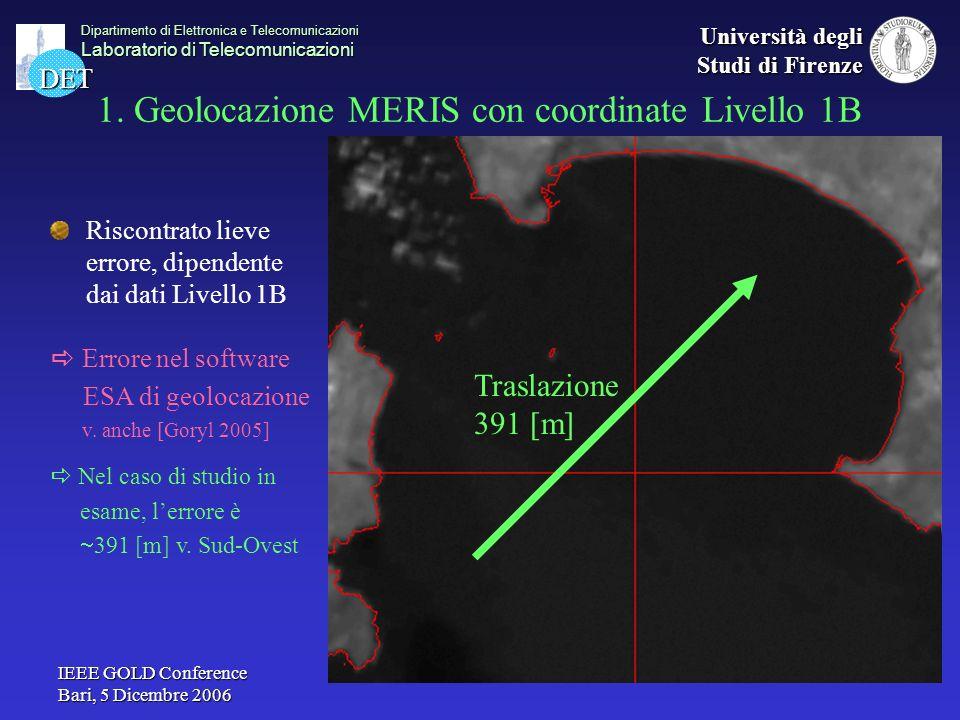 1. Geolocazione MERIS con coordinate Livello 1B