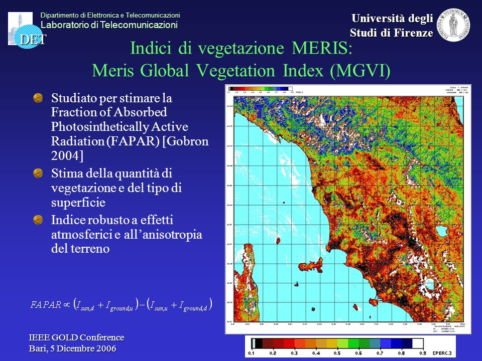 Indici di vegetazione MERIS: Meris Global Vegetation Index (MGVI)