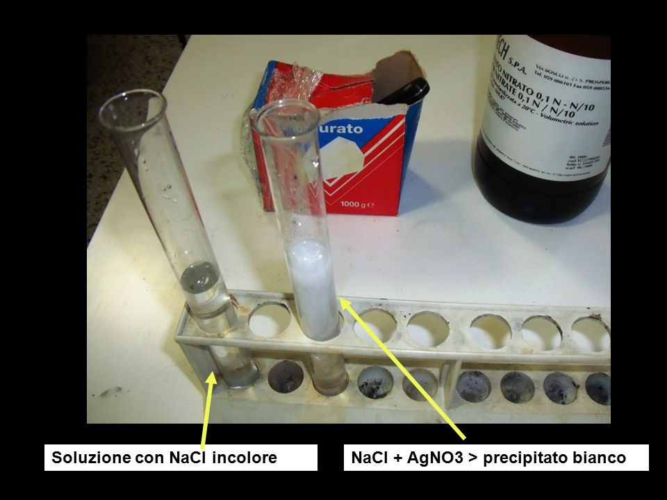 Soluzione con NaCl incolore